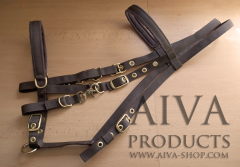 Kombinovaná uzdečka 3v1 nylonová AIVA