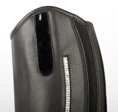 Dámské jezdecké minichaps Polaris černé se stříbrnými krystaly