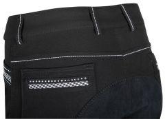 Jezdecké kalhoty Brigit Black černé s krystaly Harry's Horse