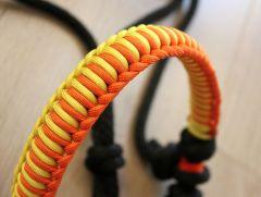COB+ • Side-pull ohlávka AMBRA oranžovo-žlutá